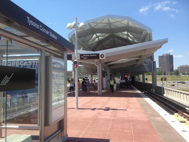 Tysons Corner Metro platform